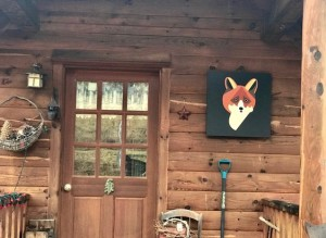 2x2 Fox Welcoming Folks To This Cabin
